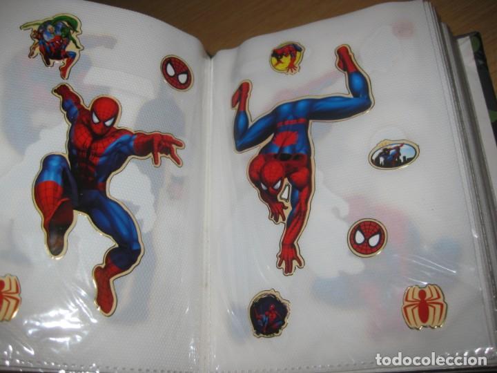 Pegatinas de colección: album con muchisimas pegatinas spiderman, mickey cars doraimon super heroes tanques - Foto 12 - 192099713
