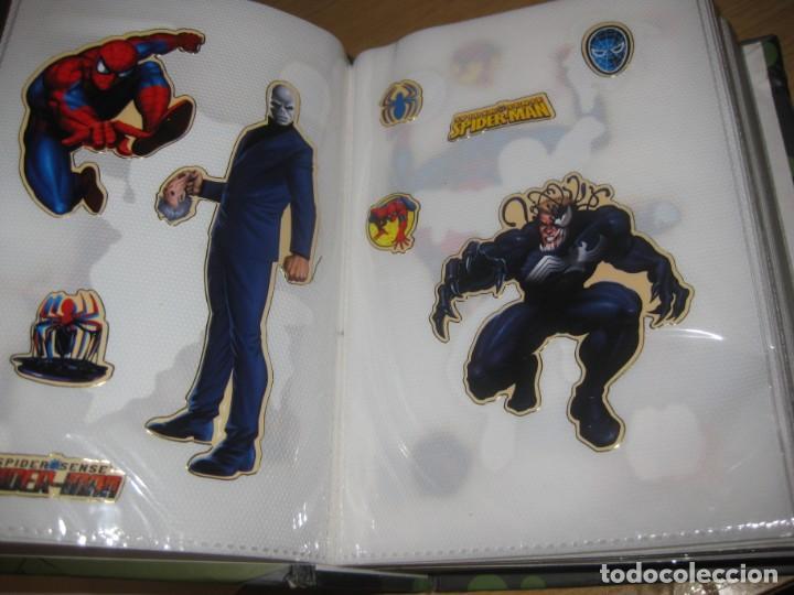 Pegatinas de colección: album con muchisimas pegatinas spiderman, mickey cars doraimon super heroes tanques - Foto 13 - 192099713