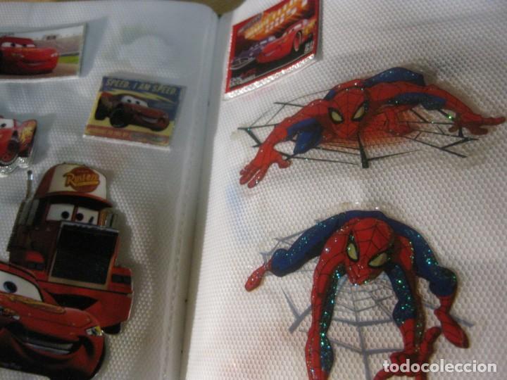 Pegatinas de colección: album con muchisimas pegatinas spiderman, mickey cars doraimon super heroes tanques - Foto 26 - 192099713