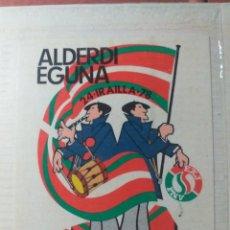 Pegatinas de colección: PEGATINA ALDERDI EGUNA OLARIZU ARABA 1978 AÑOS 70 - 80. Lote 192205498