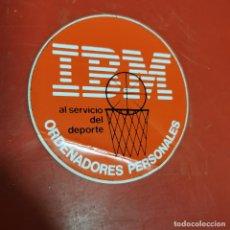 Pegatinas de colección: IBM, ORDENADORES PERSONALES- AL SERVICIO DEL DEPORTE - PEGATINA. Lote 192224191