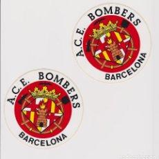 Pegatinas de colección: 2 PEGATINAS BOMBERS DE BARCELONA. Lote 192546652