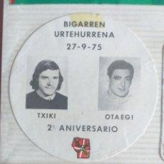 Pegatinas de colección: PEGATINA TXIKI OTAEGI 2º ANIVERSARIO AÑOS 70 -80. Lote 193416668