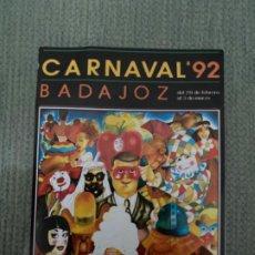 Pegatinas de colección: ANTIGUA PEGATINA CARNAVAL BADAJOZ 1992. Lote 193810692
