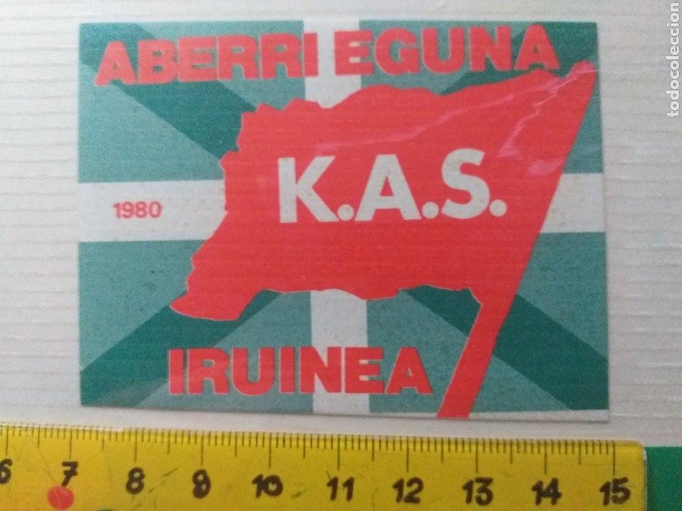 PEGATINA KAS ABERRI EGUNA IRUINEA AÑOS 70 - 80 (Coleccionismos - Pegatinas)