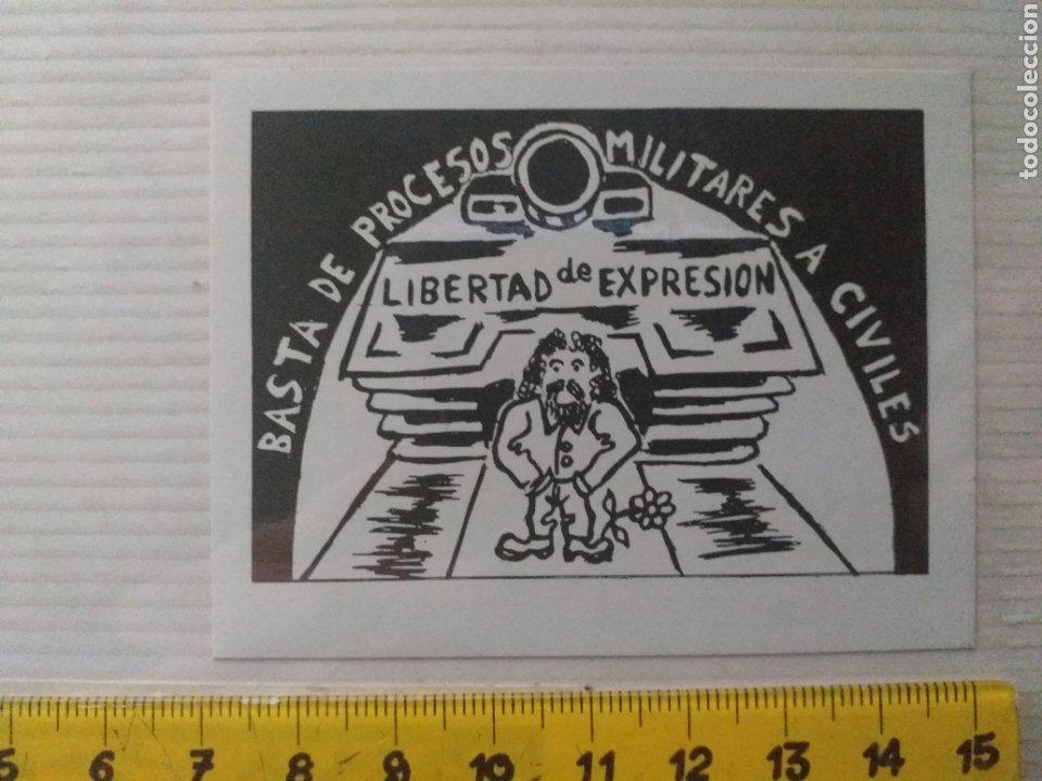PEGATINA LIBERTAD DE EXPRESIÓN AÑOS 70 - 80 (Coleccionismos - Pegatinas)