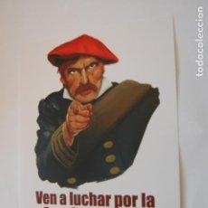 Adesivi di collezione: PEGATINA POLÍTICA. COMUNIÓN TRADICIONALISTA CARLISTA.. Lote 194100638