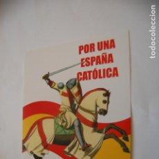 Adesivi di collezione: PEGATINA POLÍTICA. COMUNIÓN TRADICIONALISTA CARLISTA.. Lote 194177775