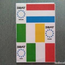 Pegatinas de colección: PEGATINA SEAT BANDERAS HOLANDA-IRLANDA-ITALIA. Lote 194291296