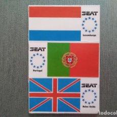 Pegatinas de colección: PEGATINA SEAT BANDERAS LUXEMBURGO-PORTUGAL-. Lote 194291415