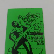 Pegatinas de colección: ADHESIVO PEGATINA POLITICA FAI CAMPESINO LA REVOLUCION TE DARA LA TIERRA.. Lote 194385391