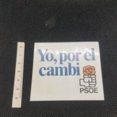 Pegatinas de colección: PEGATINA POLÍTICA YO POR EL CAMBI. Lote 194386855