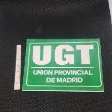 Pegatinas de colección: PEGATINA POLITICA UGT UNIÓN PROVINCIAL DE MADRID VERDE. Lote 194387093