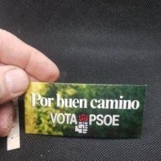 Pegatinas de colección: PEGATINA POLÍTICA POR BUEN CAMINO VOTA PSOE. Lote 194397060