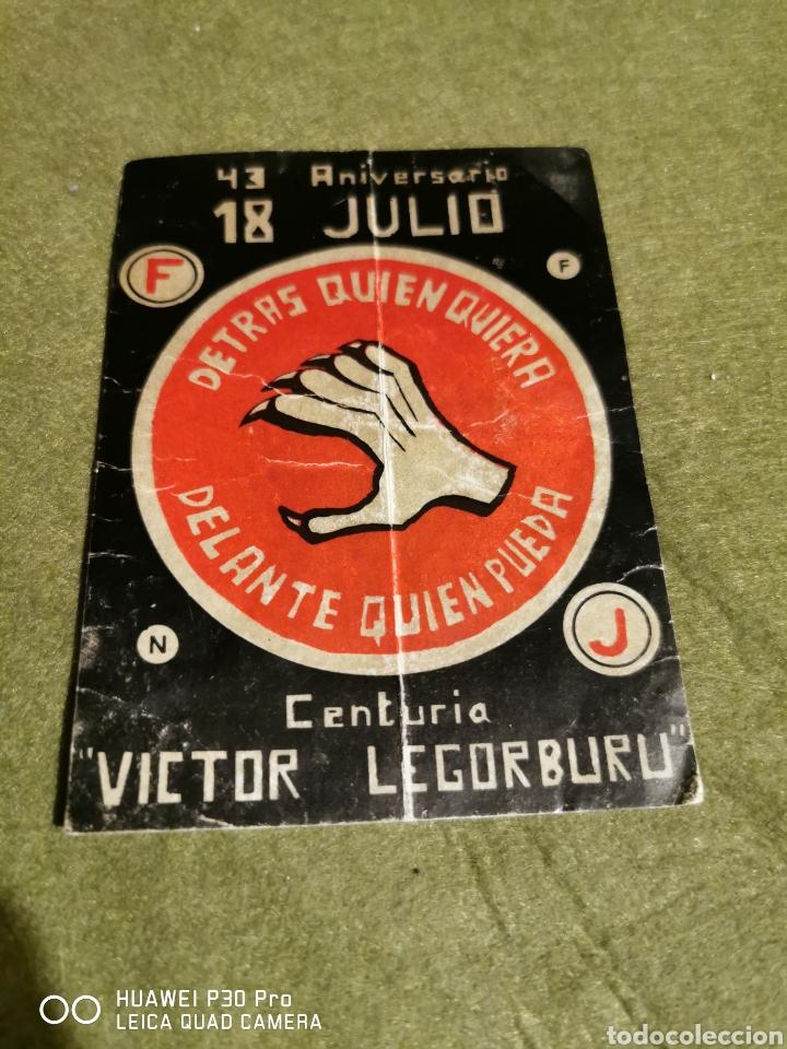 PEGATINA FALANGE DE LAS JONS CENTURIA VÍCTOR LEGORBURU (Coleccionismos - Pegatinas)