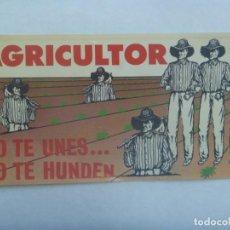 Pegatinas de colección: PEGATINA POLITICA AÑOS 80 : AGRICULTOR O TE UNES ... O TE HUNDEN . ( RABIOSA ACTUALIDAD ). 11 X 21 . Lote 194588175