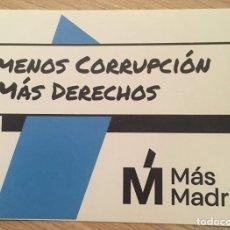 Pegatinas de colección: PEGATINA POLÍTICA MÁS MADRID. Lote 194638696