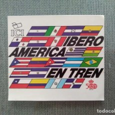 Pegatinas de colección: PEGATINA IBERO AMERICA EN TREN. Lote 194651046