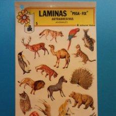 Adesivi di collezione: LÁMINAS AUTOADHESIVAS PEGA-FIX. ANIMALES. EDITORIAL ROMA. Lote 194677625