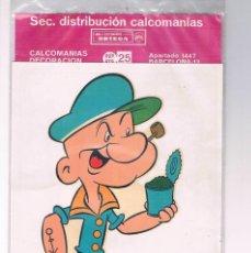 Pegatinas de colección: CALCOMANIA POPEYE CALCOMANIAS ORTEGA NUEVA PRECINTADA. Lote 194726227