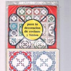 Pegatinas de colección: CALCOMANIAS SERIE BALDOSIN MODELO CEL PARA LA DECORACION DE COCINAS Y BAÑOS SIN ABRIR. Lote 194726561