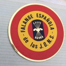 Pegatinas de colección: ANTIGUA Y ORIGINAL PEGATINA POLÍTICA,MOVIMIENTO FALANGISTA DE ESPAÑA,FALANGE,FRANCO,FUERZA NUEVA. Lote 194745817