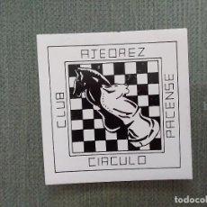 Pegatinas de colección: PEGATINA CLUB AJEDREZ CIRCULO PACENSE. Lote 194747935