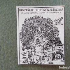 Pegatinas de colección: PEGATINA CCAMPAÑA DE PROTECCION AL ENCINAR. Lote 194747962