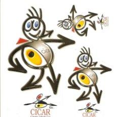 Pegatinas de colección: PEGATINA CICAR - ALQUILER DE COCHES. Lote 194874532