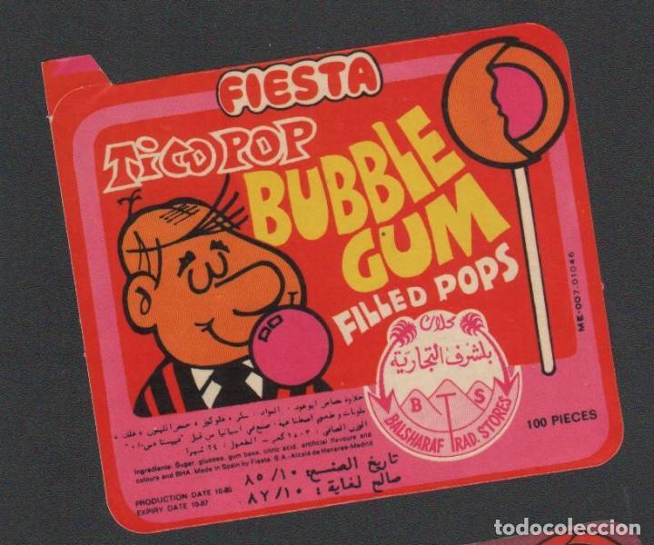 PEGATINA ORIGINAL CHUPA-CHUPS FIESTA AÑOS 80 NUEVA TICO-POP BUBBLE GUM (Coleccionismos - Pegatinas)