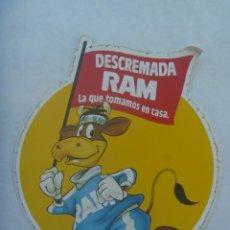 Pegatinas de colección: PEGATINA PUBLICITARIA DE LECHE DESCREMADA RAM. Lote 195060345