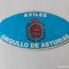 Autocollants de collection: PEGATINA AVILES - ORGULLO DE ASTURIAS - 14 CM. Lote 195060693