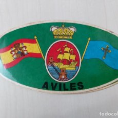 Autocollants de collection: PEGATINA AVILES - CONCEJO - 14 CM. Lote 195060713