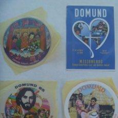 Pegatinas de colección: LOTE DE 4 PEGATINAS PUBLICITARIAS DEL DOMUND. Lote 195101485