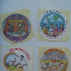 Pegatinas de colección: LOTE DE 4 PEGATINAS PUBLICITARIAS DEL DOMUND. Lote 195156498