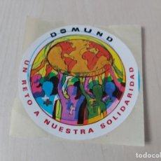Pegatinas de colección: PEGATINA DOMUND 92 - 8 CM. Lote 195190122