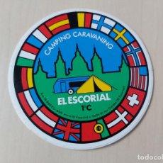 Adesivi di collezione: PEGATINA - CAMPING EL ESCORIAL - 10 CM. Lote 220311417
