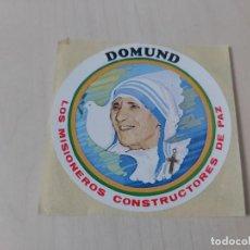 Pegatinas de colección: PEGATINA DOMUND 92 - 8 CM. Lote 195269267