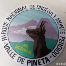 Pegatinas de colección: PEGATINA ICONA - VALLE DE ESCUAIN - 7 CM. Lote 195269577
