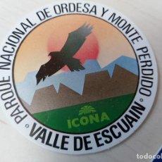 Pegatinas de colección: PEGATINA ICONA - VALLE DE ESCUAIN - 7 CM. Lote 195269601