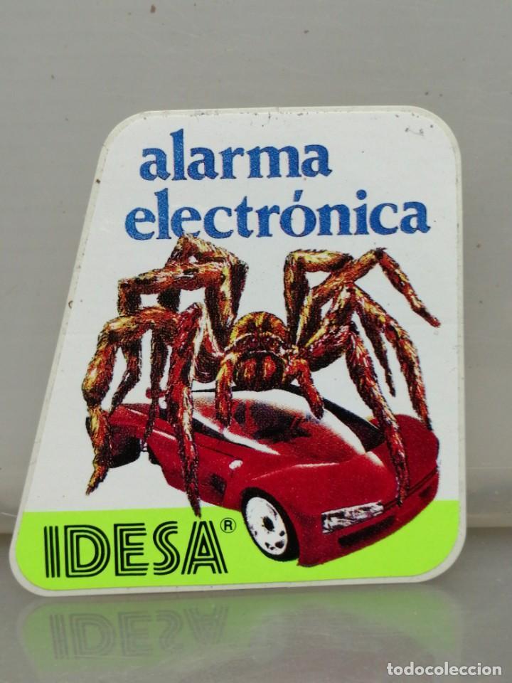 PEGATINA IDESA ALARMA ELECTRÓNICA COCHES (Coleccionismos - Pegatinas)