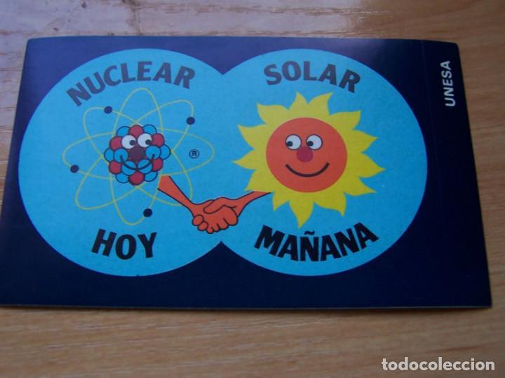 ENERGIA NUCLEAR HOY SOLAR MAÑANA. PEGATINA (Coleccionismos - Pegatinas)