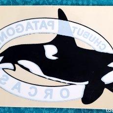 Pegatinas de colección: PEGATINA SIN USAR. CHUBUT- PATAGONIA. ORCAS. Lote 195684193