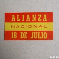 Autocolantes de coleção: PEGATINAS POLITICAS TRANSICION-OJO VER DESCRIPCION Y ESTADO. Lote 195739045