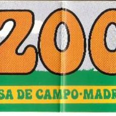 Pegatinas de colección: PEGATINA ZOO CASA DE CAMPO - MADRID. Lote 195989595