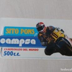 Adesivi di collezione: PEGATINA MOTOR SITO PONS - CAMPSA - CAMPEON DEL MUNDO - 16 CM. Lote 197502678