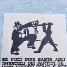 Pegatinas de colección: ANTIGUA PEGATINA POLÍTICA NACIONAL REVOLUCIONARIA,AÑOS 70,RARA,COLECCIONISMO,ITALIA,VNR. Lote 197660550