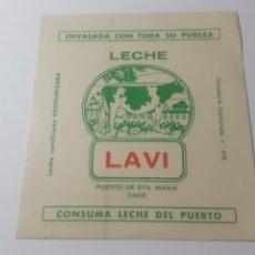 Pegatinas de colección: LECHE LA VI. EL PUERTO DE SANTA MARIA. PEGATINA SIN DESPEGAR. Lote 197787903