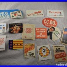 Pegatinas de colección: PEGATINAS POLITICAS TRANSICION ESPAÑOLA. Lote 199821182