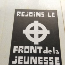 Pegatinas de colección: ANTIGUA PEGATINA POLÍTICA NACIONAL REVOLUCIONARIA,AÑOS 70,RARA,COLECCIONISMO,BÉLGICA,BELGIUM,CRUZ CE. Lote 200150802